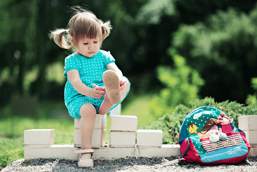 Why are my child's shoes on the wrong feet?