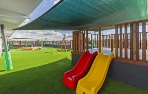 kids playground fort with slides